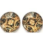 Barok clip oorbellen- 2 cm