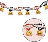 Halloween Slinger Pompoen Deluxe met onderhangers 2 meter