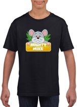 Mighty Mike t-shirt zwart voor kinderen - unisex - muizen shirt XL (158-164)