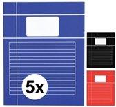 5x A4 lijntjes schriften