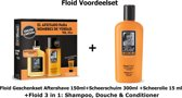 Floid - 3 delige - geschenkset +  3 in 1 Douche - Shampoo - Conditioner  250 ml.