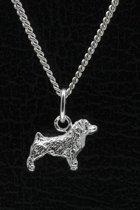 Zilveren Norfolk terrier ketting hanger - klein