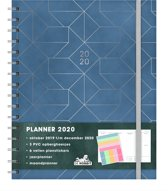 Planner Agenda - 2020 - A5+ (tussen A4 en A5) - luxe - ringband - D7