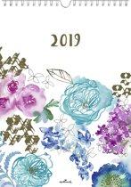 Hallmark 'Aquarel Flowers' Maandkalender, 2019