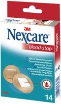 Nexcare™ Blood-Stop Bloedstop pleisters, huidkleurig, 14 ronde pleisters, N1714NS