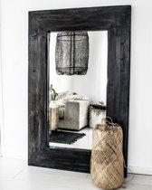Spiegel Hout XL Zwart | Spiegel Handgemaakt 140 x 88 cm