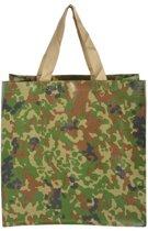 Boodschappentas camouflage - set van 6 stuks