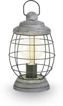 EGLO Vintage Bampton - Tafellamp - 1 Lichts - Donkergrijs