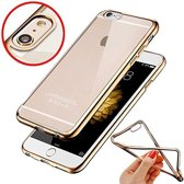 Plating Bumper Soft Flexible hoesje iPhone 6 plus en 6S plus goud