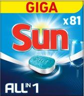 Sun All-in-1 Normaal vaatwastabletten - 81 stuks - Hygiënisch Schoon