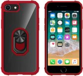 BackCover Ring voor Apple iPhone 8/7/6 Transparant Rood