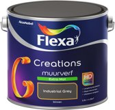 Flexa Creations - Muurverf Extra Mat - Industrial Grey - 2,5 liter