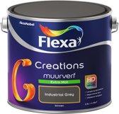 Flexa Creations Muurverf - Extra Mat - Industrial Grey - 2,5 liter