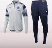 PUMA Olympique de Marseille Trainingspak Heren - Grijs - Maat S