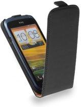 LELYCASE Premium Flip Case Lederen Cover Bescherm  Hoesje Sony Xperia V Zwart