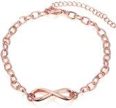 BY-ST6 Armband Infinity rosé kleurig