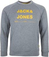 Jack & Jones Core Caspar Sporttrui casual - Maat M  - Mannen - grijs/geel