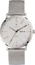 Renard Elite Day Date Silver Milanese Silver RD381SS10MSS - Horloge - Staal - Zilver - 38,5mm
