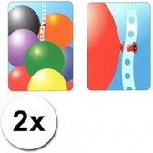 2 ballonnen slinger linten