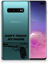 Samsung Galaxy S10 Plus Uniek TPU Hoesje Pistol DTMP