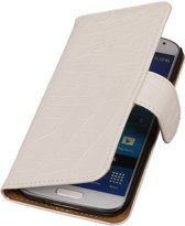 Wicked Narwal | Croco bookstyle / book case/ wallet case Hoes voor BlackBerry Z10 Wit