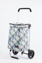 Rixx - Shopping Trolley - Geometric - Pastelkleuren - 30 L