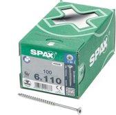 Spax Spaanplaatschroef Verzinkt Torx 6.0 x 110 - 100 stuks
