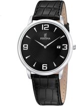 Festina F6806/2 Klassiek - Horloge- Staal - Zilverkleurig - 40 mm