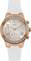 GUESS Watches Dames Horloge W0773L6 - silconen - wit - Ø 44 mm