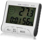 Digitale LCD-display Thermometer / Hygrometer / Klok / Alarm Temperatuur / Vochtigheidsmeter