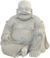 Happy Boeddha 40cm grijs