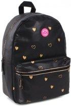 Milky Kiss Golden Hearts Kinderrugzak - Zwart - 39 cm hoog met laptopvak