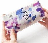 Etui Watercolor Purple| School Etui | Kleurrijke etui