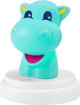 Alecto nachtlampje nijlpaard blauw