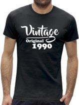 Leeftijd 30 jaar t-shirt - Vintage / kado tip / heren maat L / origineel verjaardag cadeau man