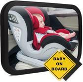 Baby auto spiegel - Hoofdsteun spiegel - XL - Verstelbare spiegel - Autospiegel baby - Achterbank spiegel - Baby on board