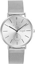 Regal Horloges- Regal horloge met zilverkleurige mesh band