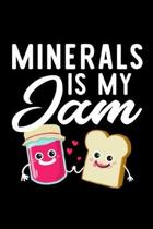 Minerals Is My Jam: Funny Notebook for Minerals Fan - Great Christmas & Birthday Gift Idea for Minerals Fan - Minerals Journal - 100 pages