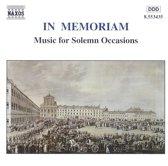 In Memoriam - Music For Solemn Occasions