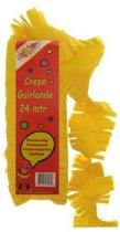 Crepe guirlande brandveilig geel 24m
