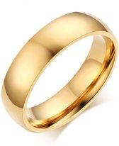Victorious - Goudkleurige Ring - Topkwaliteit - Maat 54 (17.3mm)