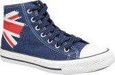 Lee Cooper High Cut 1 LCWL-19-530-041, Vrouwen, Blauw, Sneakers maat: 36 EU