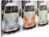 REINDERS Volkswagen busjes - Schilderij - 90x30cm