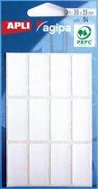 68x Agipa witte etiketten in etui 15x35mm (bxh), 84 stuks, 12 per blad