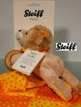 Steiff 240645 BABY 3-in-1 LEON LEEUW KNUFFEL DIER, -DOEK EN GRIJPRING