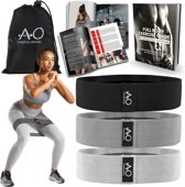 Weerstandsbanden - Bootybands - Fitnessband - Fitness Elastiek - Inclusief Workout E-book en Draagtas – Resistance Band Set van 4
