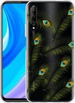Huawei P Smart Pro Hoesje Peacock Feathers