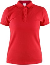Craft Casual Polo Pique Dames Rood maat L