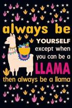 Always be yourself except when you can be a llama then always be a llama: Weekly Budget Planner Workbook With Income Expense Tracker, Bill Payments Or