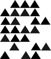 Driehoek muurstickers Zwart / 45 stuks / Muurstickers kinderkamer / Babykamer / Geometrische muurstickers / Driehoek muurstickers / Zwart